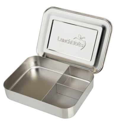 LunchBots Bento Trio Large Stainless Steel Food Container