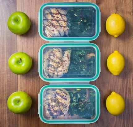 Premium Glass Meal Prep Container Set