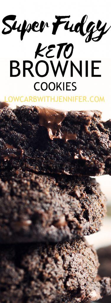 keto fudge brownie cookies