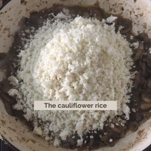 cauliflower rice mushroom risotto keto