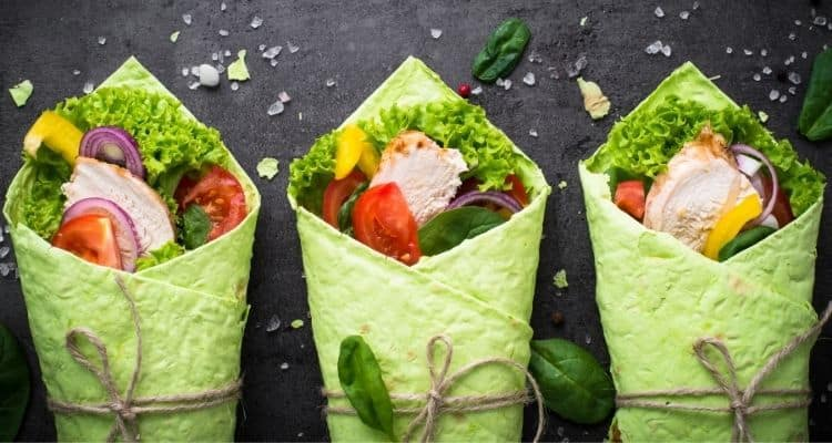 low carb spinach wraps